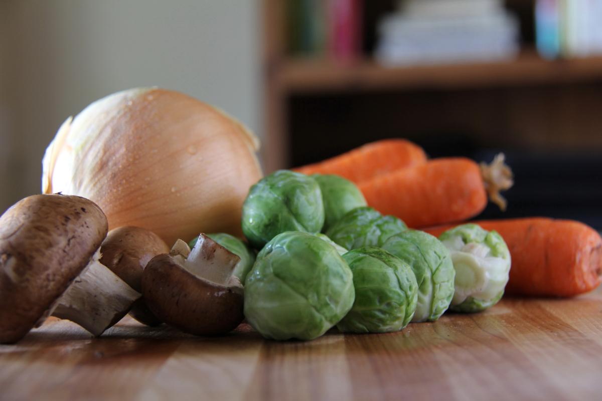 Veggies for Paleo Breakfast Hash