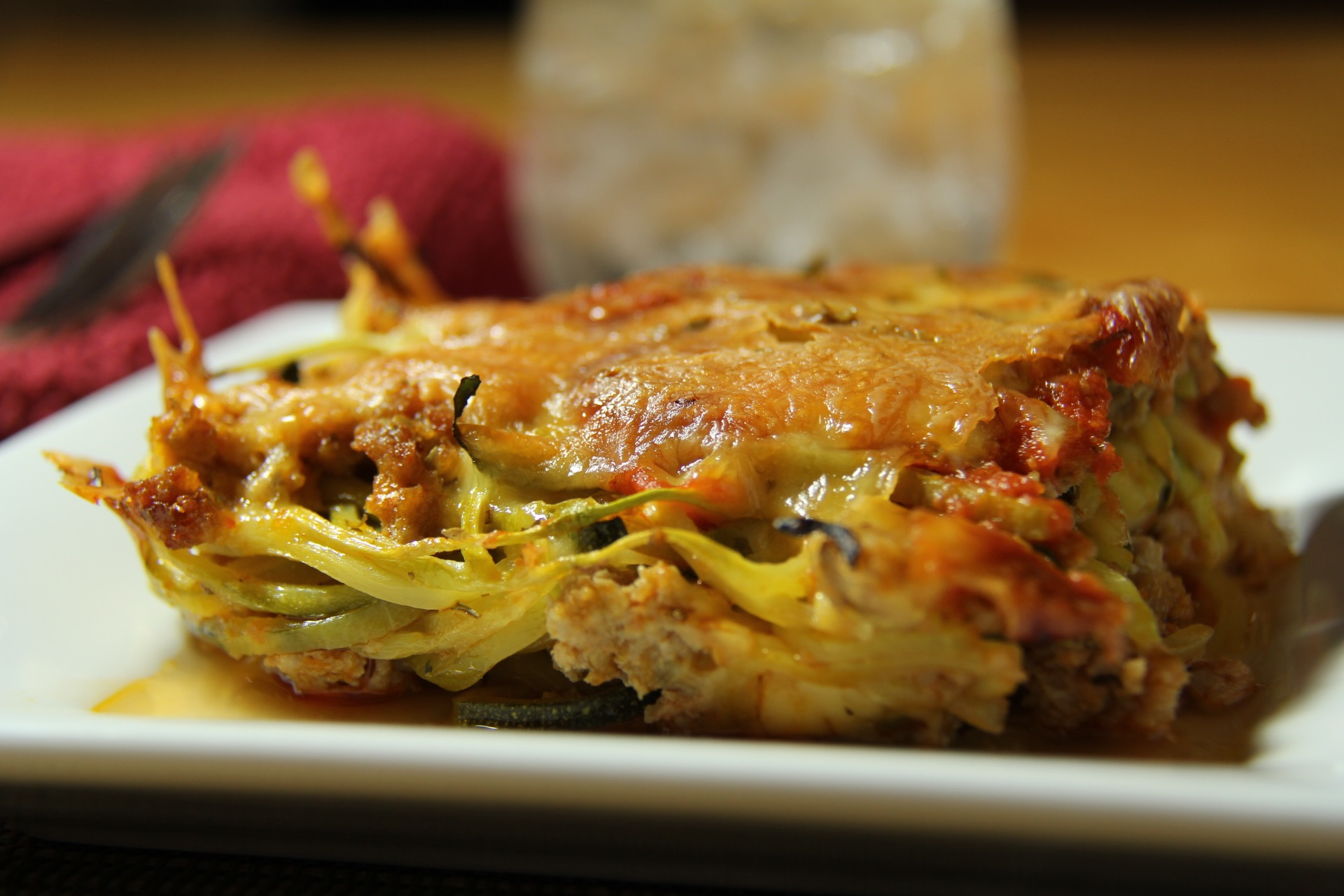 Baked Zuchini with Italian Sausage
