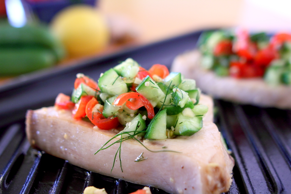 Dill and Ginger Broiled Swordfish